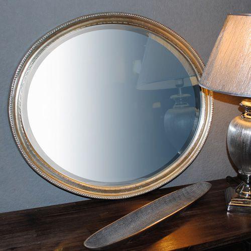 Silber wandspiegel barockspiegel online shop 3 for Spiegel oval silber