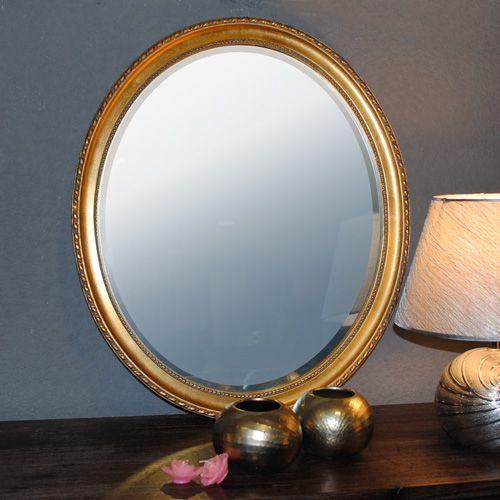 spiegel leila gold antik 57x67cm oval barock 1135. Black Bedroom Furniture Sets. Home Design Ideas