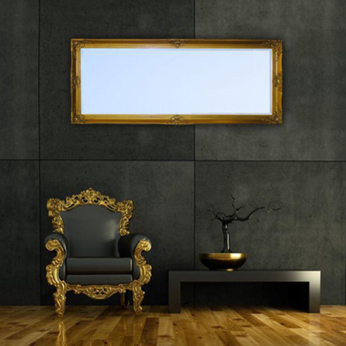 spiegel leandra barock antik gold 150x60cm 1165. Black Bedroom Furniture Sets. Home Design Ideas