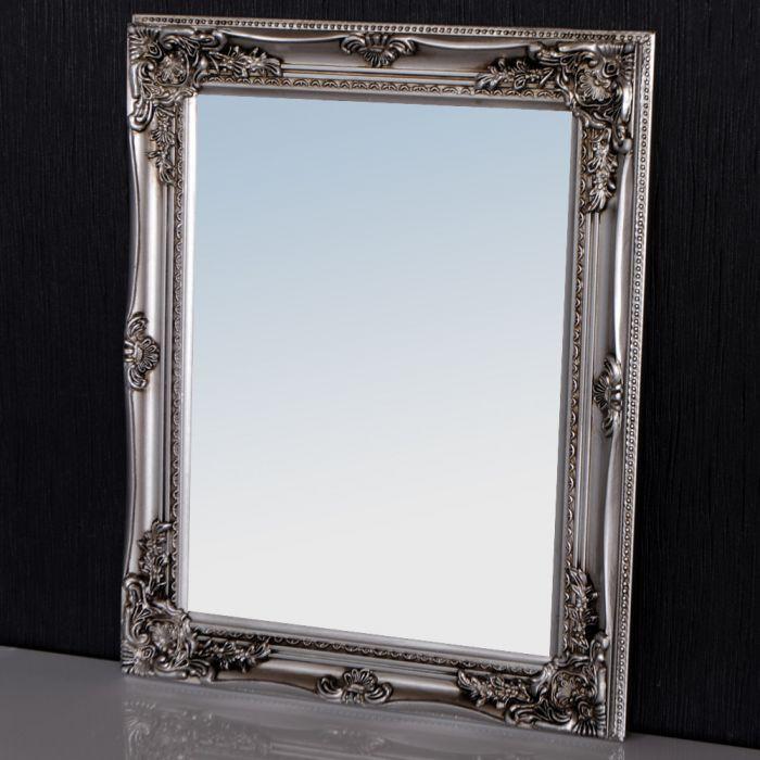 spiegel leonie barock silber antik 47x37cm 1189. Black Bedroom Furniture Sets. Home Design Ideas