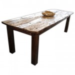 Massivholz Esstisch PAINTED Recycled Wood Natural 001