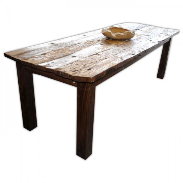 Massivholz Esstisch PAINTED Recycled Wood Natural