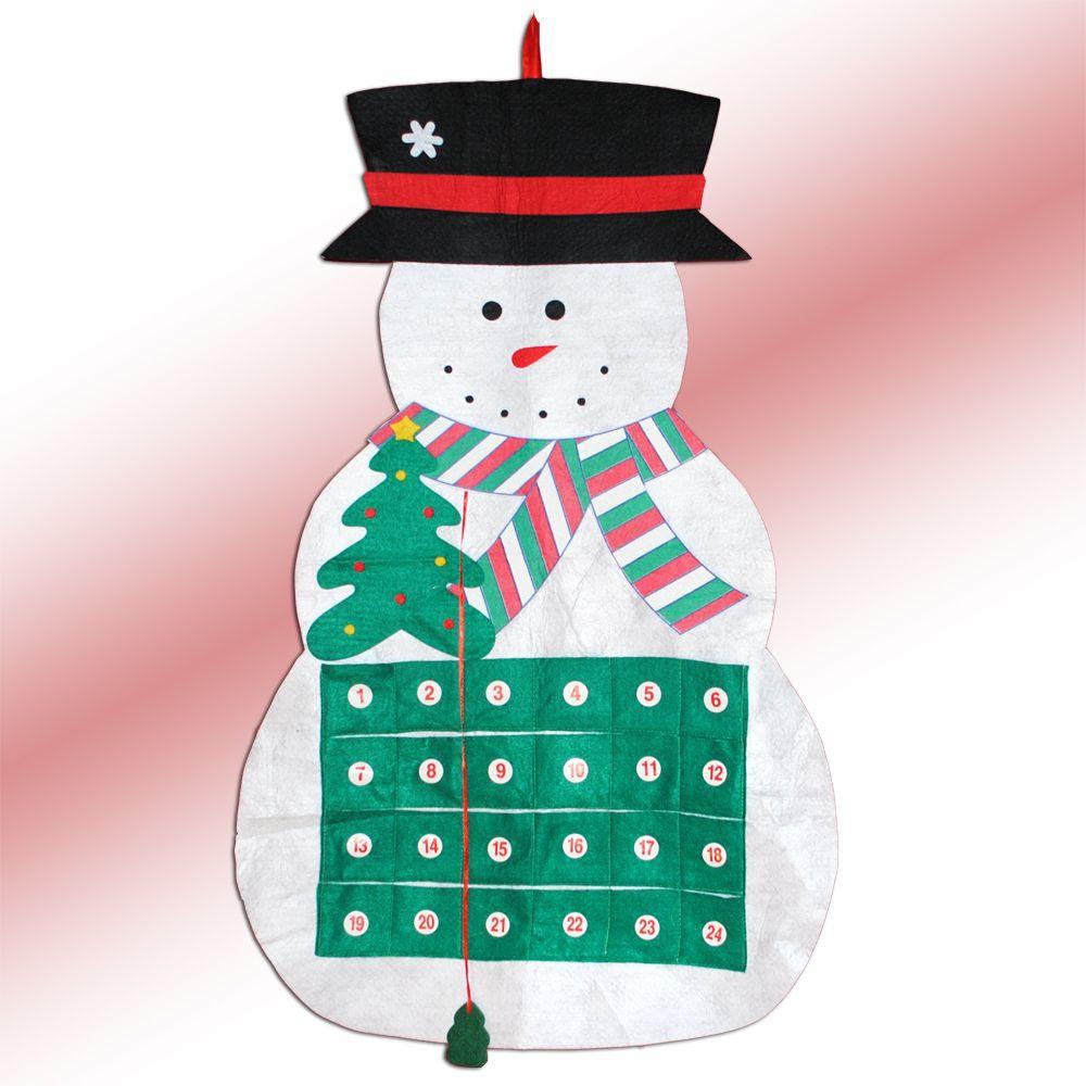 weihnachtskalender adventskalender schneemann aus filz 2299. Black Bedroom Furniture Sets. Home Design Ideas