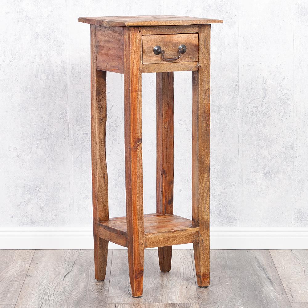 Telefontisch beistelltisch indo 75cm rustic grey 2584 for Beistelltisch 75 cm