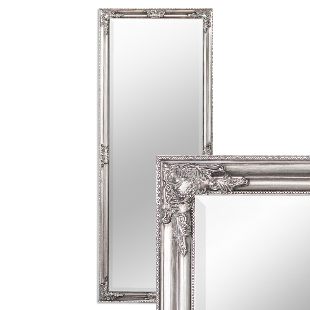 wandspiegel silber antik barock design spiegel pomp s. Black Bedroom Furniture Sets. Home Design Ideas