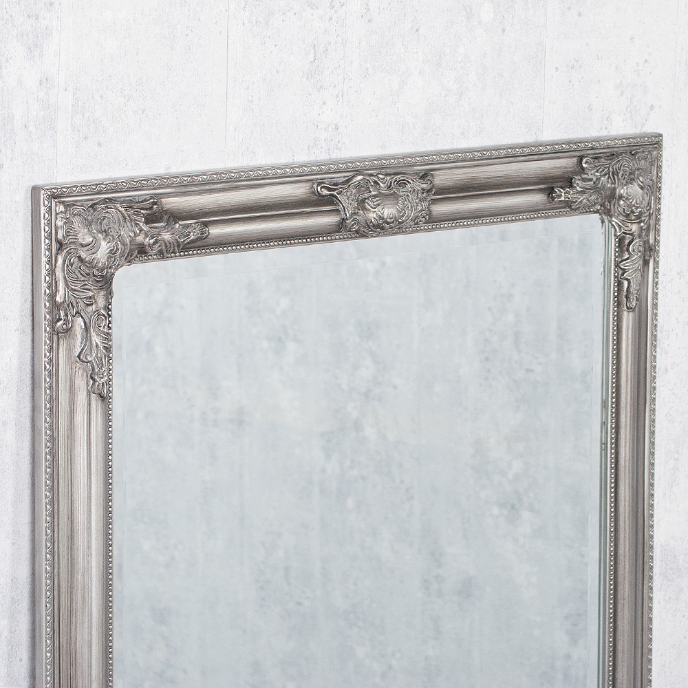 spiegel bessa barock silber antik 160x60cm 2828. Black Bedroom Furniture Sets. Home Design Ideas