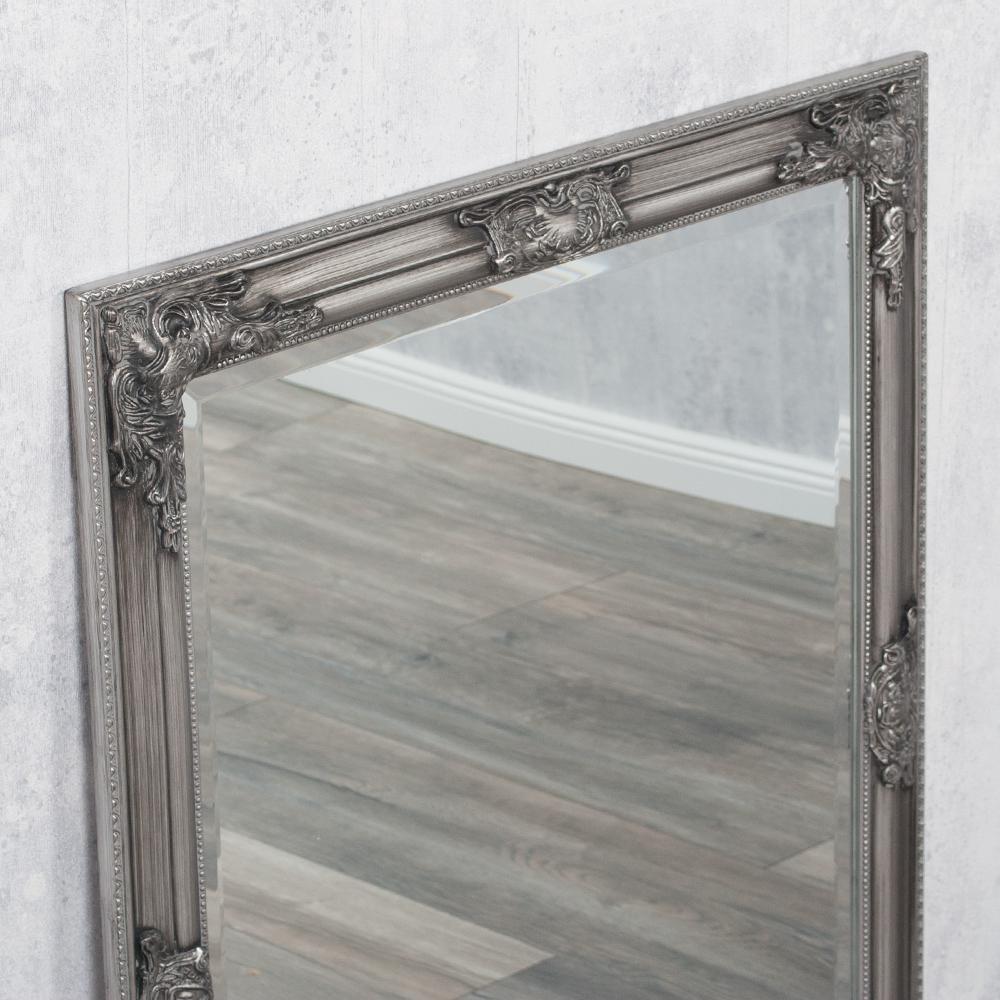 spiegel bessa barock silber antik 90x70cm 2835. Black Bedroom Furniture Sets. Home Design Ideas