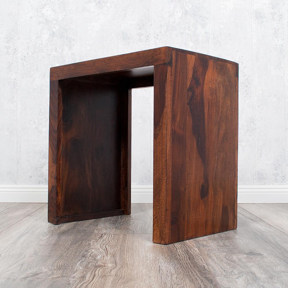 beistelltisch nest l 45cm farbe dark brown akazie blumenhocker massiv holz ebay. Black Bedroom Furniture Sets. Home Design Ideas