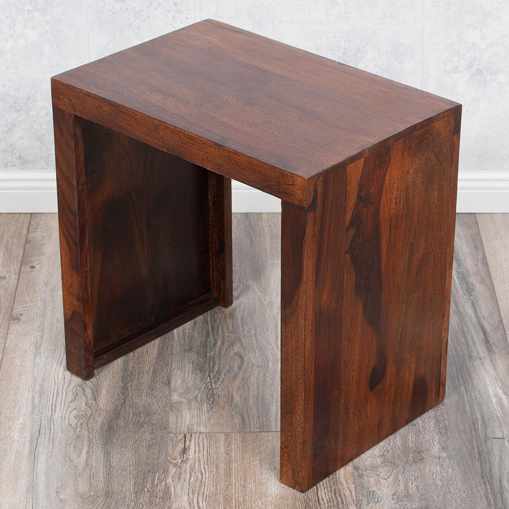 beistelltisch nest l 45cm farbe dark brown akazie blumenhocker massiv holz hamburg. Black Bedroom Furniture Sets. Home Design Ideas