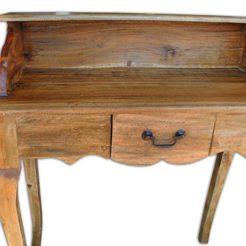 shabby chic schreibtisch sekret r indo holz rustic grey 3315. Black Bedroom Furniture Sets. Home Design Ideas