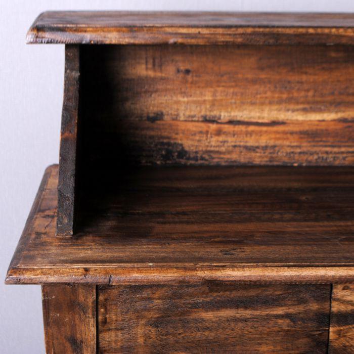 shabby chic schreibtisch sekret r indo holz rustic brown 3316. Black Bedroom Furniture Sets. Home Design Ideas