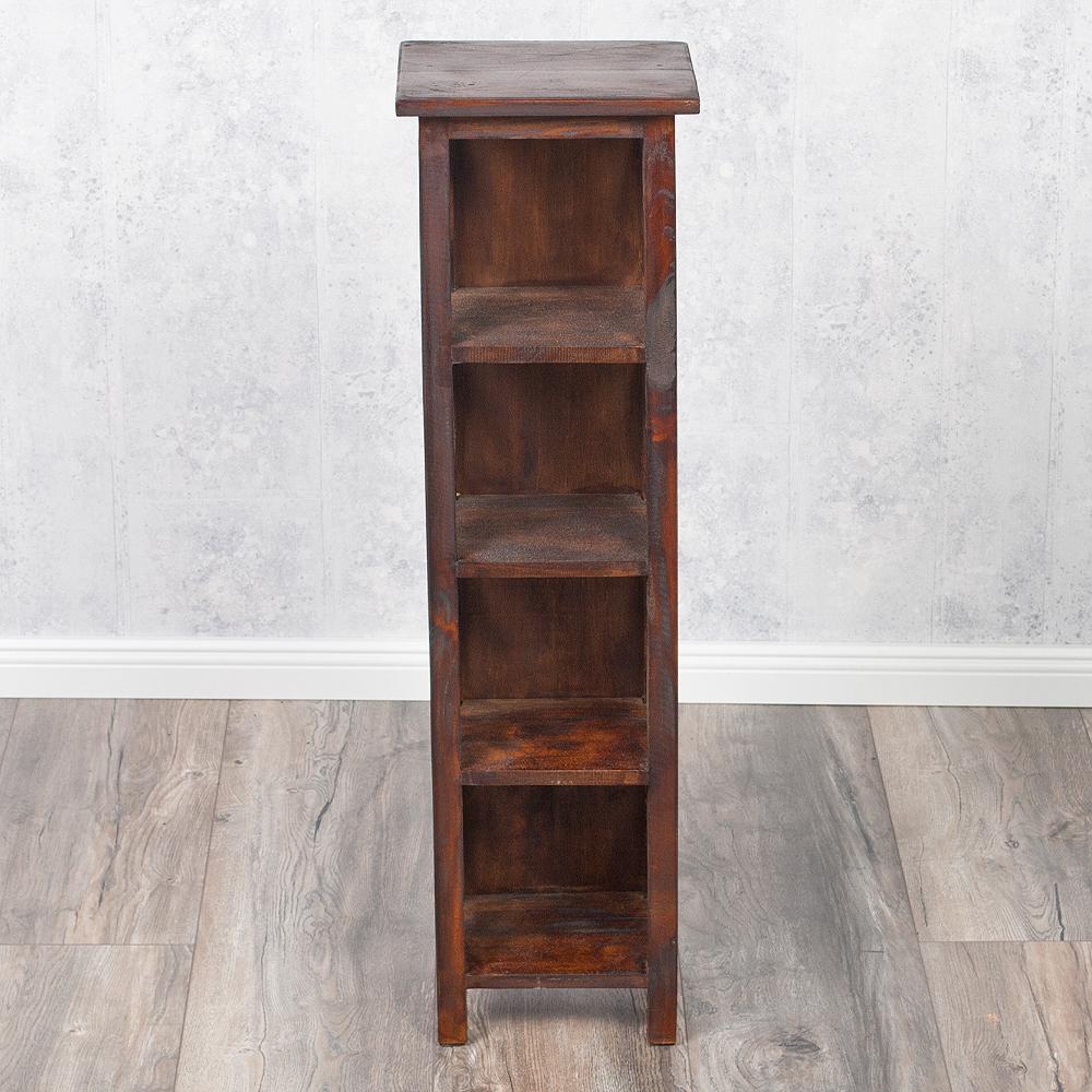 shabby chic holzregal dvd cd regal 95cm dark brown 3332. Black Bedroom Furniture Sets. Home Design Ideas