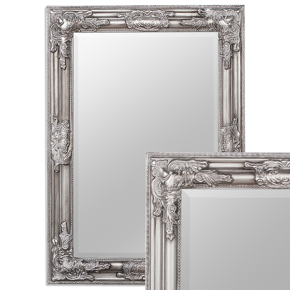 spiegel bessa barock silber antik 70x50cm 3398. Black Bedroom Furniture Sets. Home Design Ideas