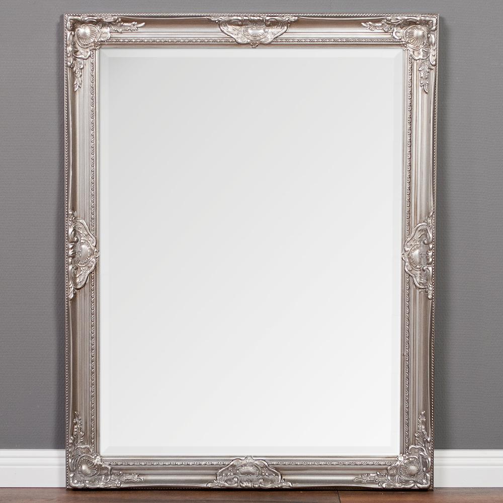 spiegel leandos barock silber antik 90x70cm 3406. Black Bedroom Furniture Sets. Home Design Ideas