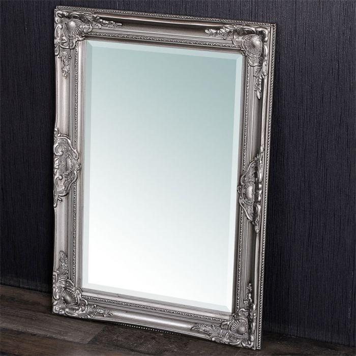 spiegel leandos barock silber antik 70x50cm 3414. Black Bedroom Furniture Sets. Home Design Ideas