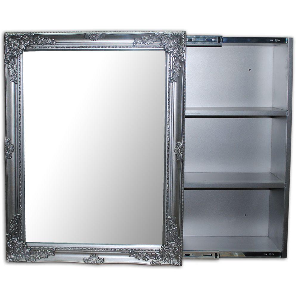 badezimmer spiegelschrank xenia silber 3479. Black Bedroom Furniture Sets. Home Design Ideas