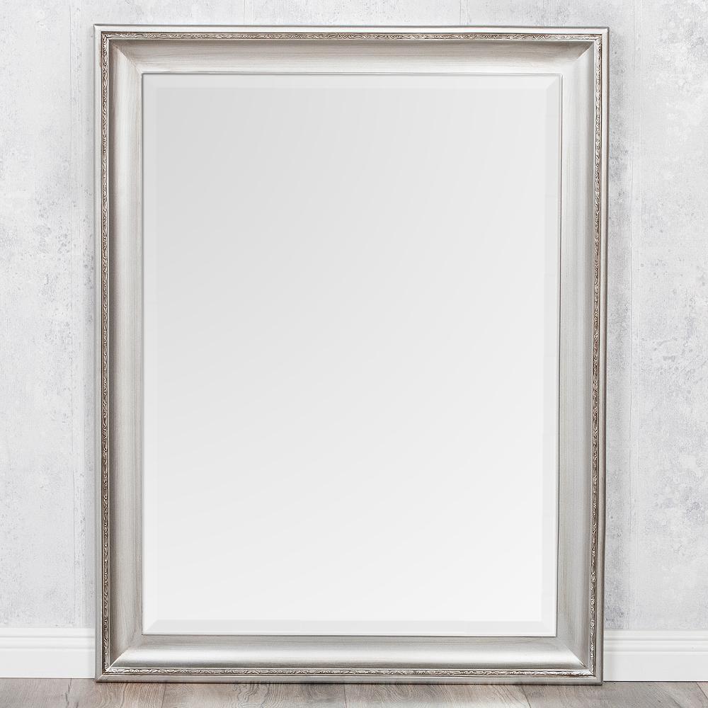 spiegel copia 70x50cm silber antik wandspiegel barock 3560