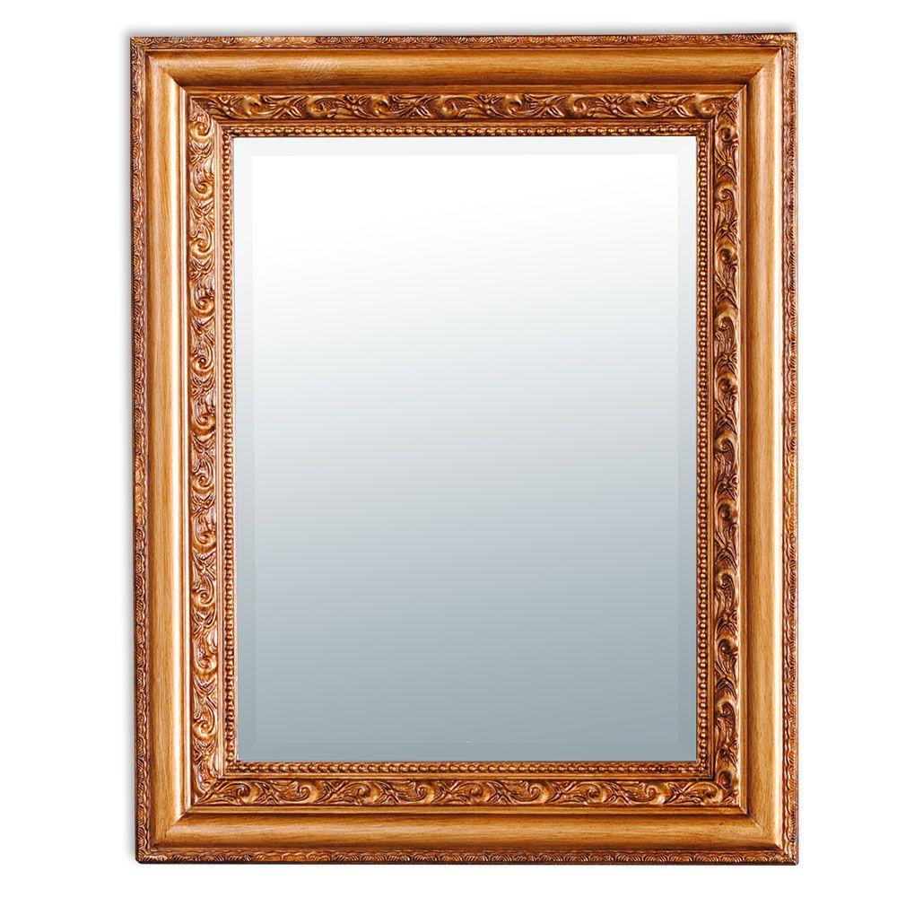 wandspiegel barock 50x40cm spiegel antik gold bronze. Black Bedroom Furniture Sets. Home Design Ideas