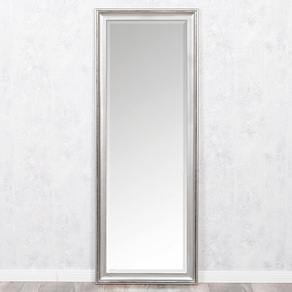 spiegel copia 140x50cm silber antik wandspiegel barock holzrahmen und facette ebay. Black Bedroom Furniture Sets. Home Design Ideas
