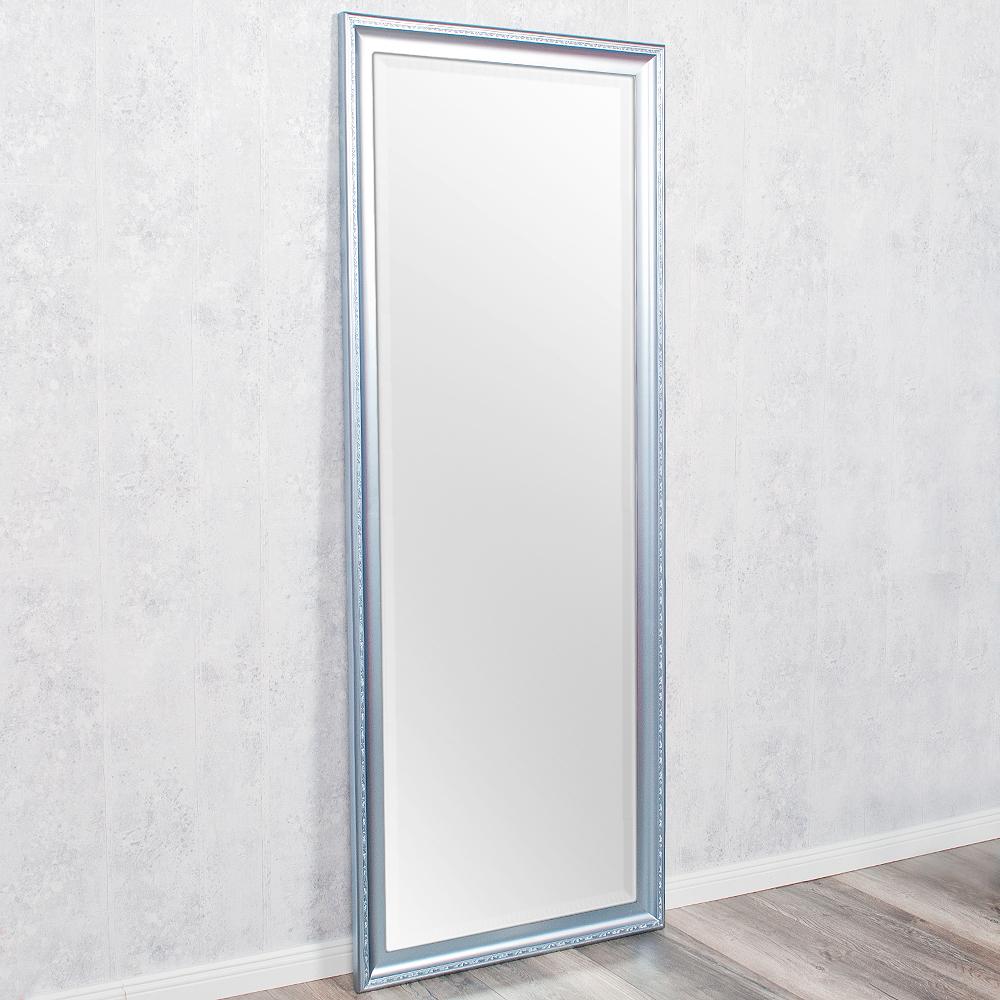 spiegel copia 180x70cm frozen silber wandspiegel barock holzrahmen und facette ebay. Black Bedroom Furniture Sets. Home Design Ideas