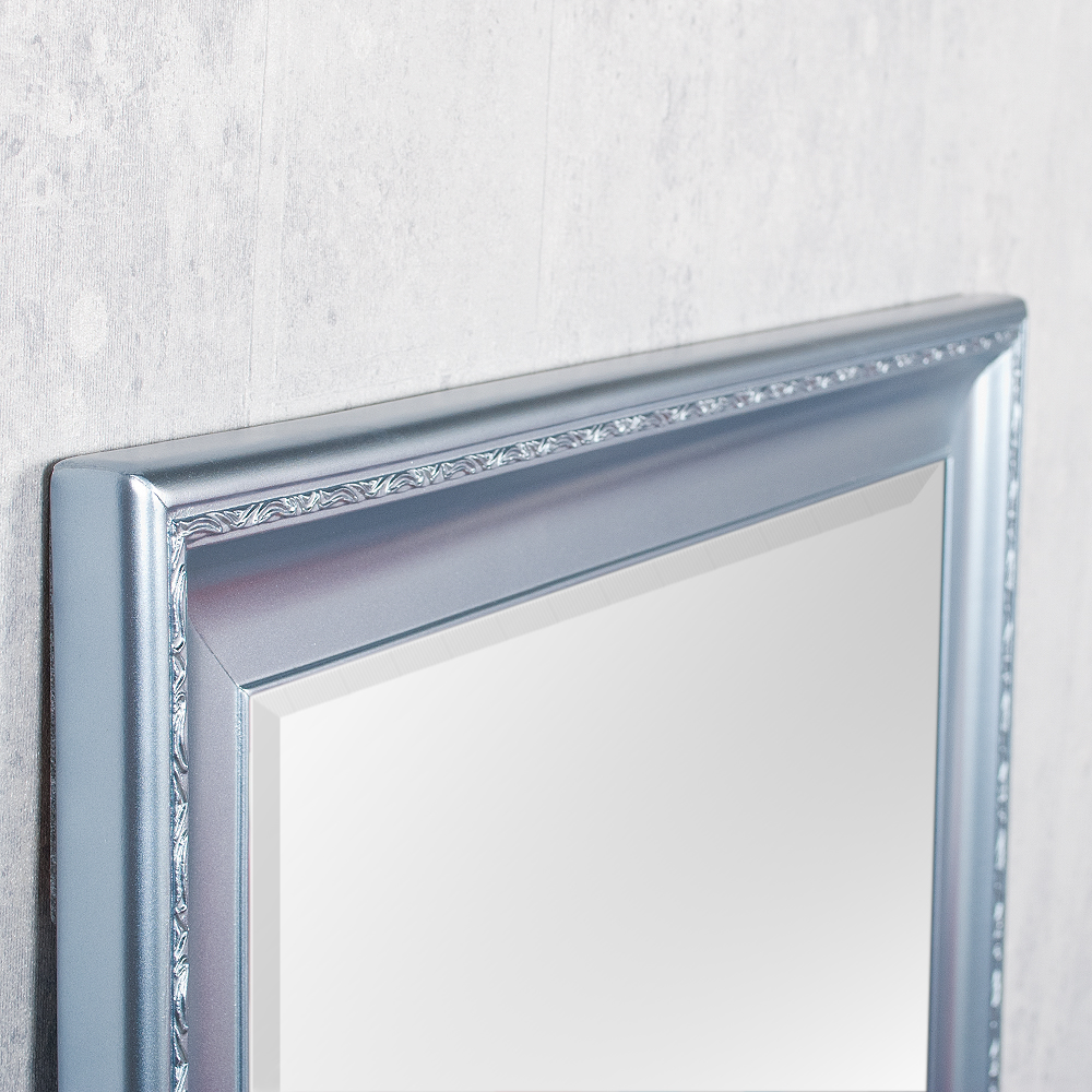 Spiegel copia 180x70cm frozen silber wandspiegel barock 3582 for Barock wandspiegel silber