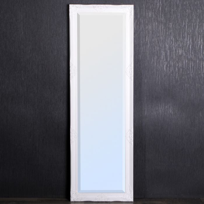 spiegel leandra barock wei silber 170x55cm 3642. Black Bedroom Furniture Sets. Home Design Ideas