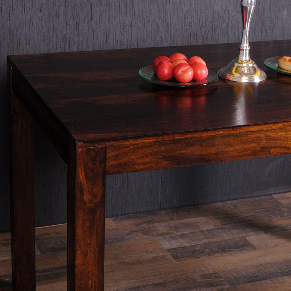 esstisch dambo 120x80cm dark brown a akazie massivholz. Black Bedroom Furniture Sets. Home Design Ideas