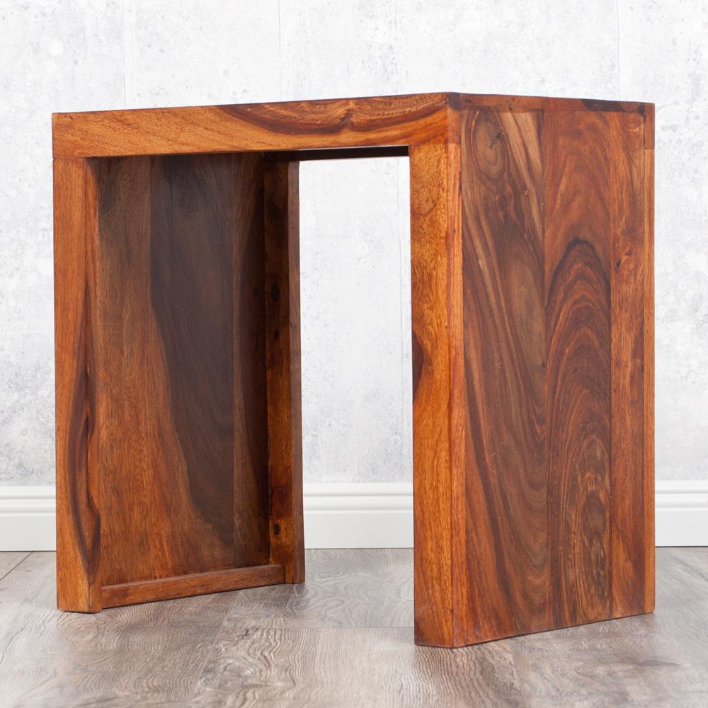sheesham beistelltisch palisander blumenhocker 45cm. Black Bedroom Furniture Sets. Home Design Ideas