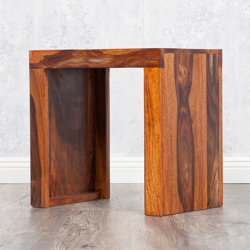 beistelltisch nest m 35cm farbe natural akazie blumenhocker massiv holz hamburg. Black Bedroom Furniture Sets. Home Design Ideas