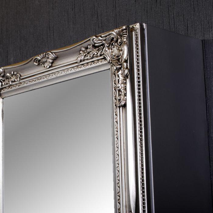 spiegelschrank beatrice 60x40cm barock silber 4027. Black Bedroom Furniture Sets. Home Design Ideas