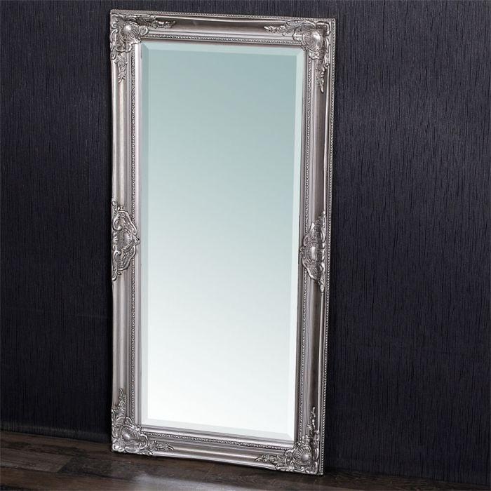 spiegel leandos barock silber antik 100x50cm 4068. Black Bedroom Furniture Sets. Home Design Ideas