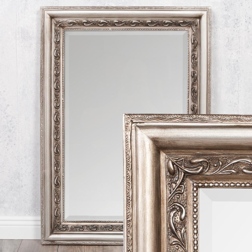 spiegel argento barock silber antik 70x50cm 4077. Black Bedroom Furniture Sets. Home Design Ideas