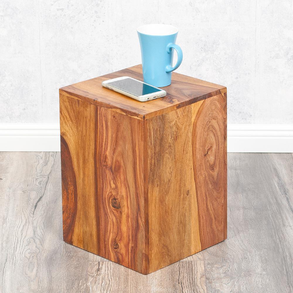 beistelltisch ramu 50cm palisander massivholz stone. Black Bedroom Furniture Sets. Home Design Ideas