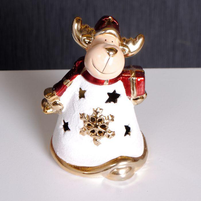 edzard weihnachtselch mit geschenkpaket weihnachten deko elch 4250076101026 ebay. Black Bedroom Furniture Sets. Home Design Ideas