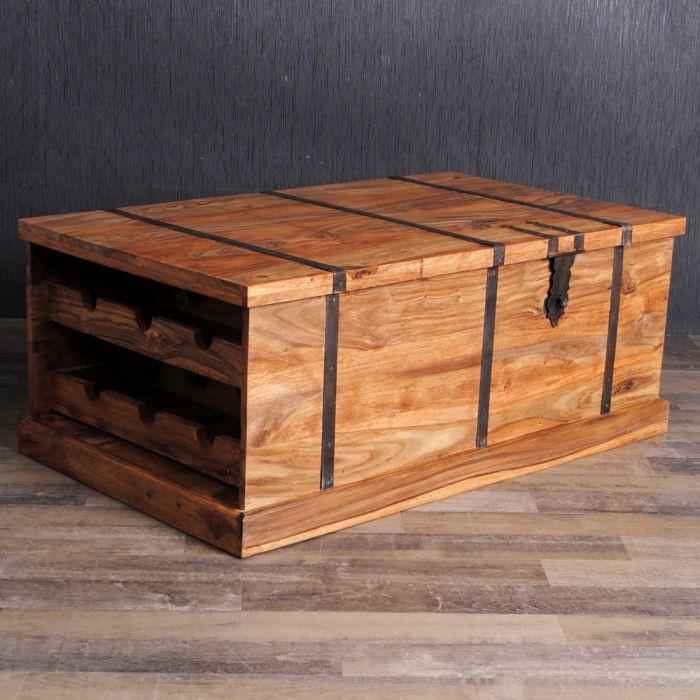 couchtisch truhe jadoo 100x60cm stone a akazie massiv mit weinfach 4438. Black Bedroom Furniture Sets. Home Design Ideas