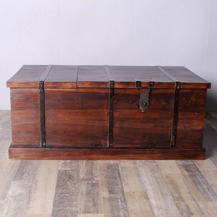 couchtisch truhe jadoo 100x60cm dark brown a akazie. Black Bedroom Furniture Sets. Home Design Ideas