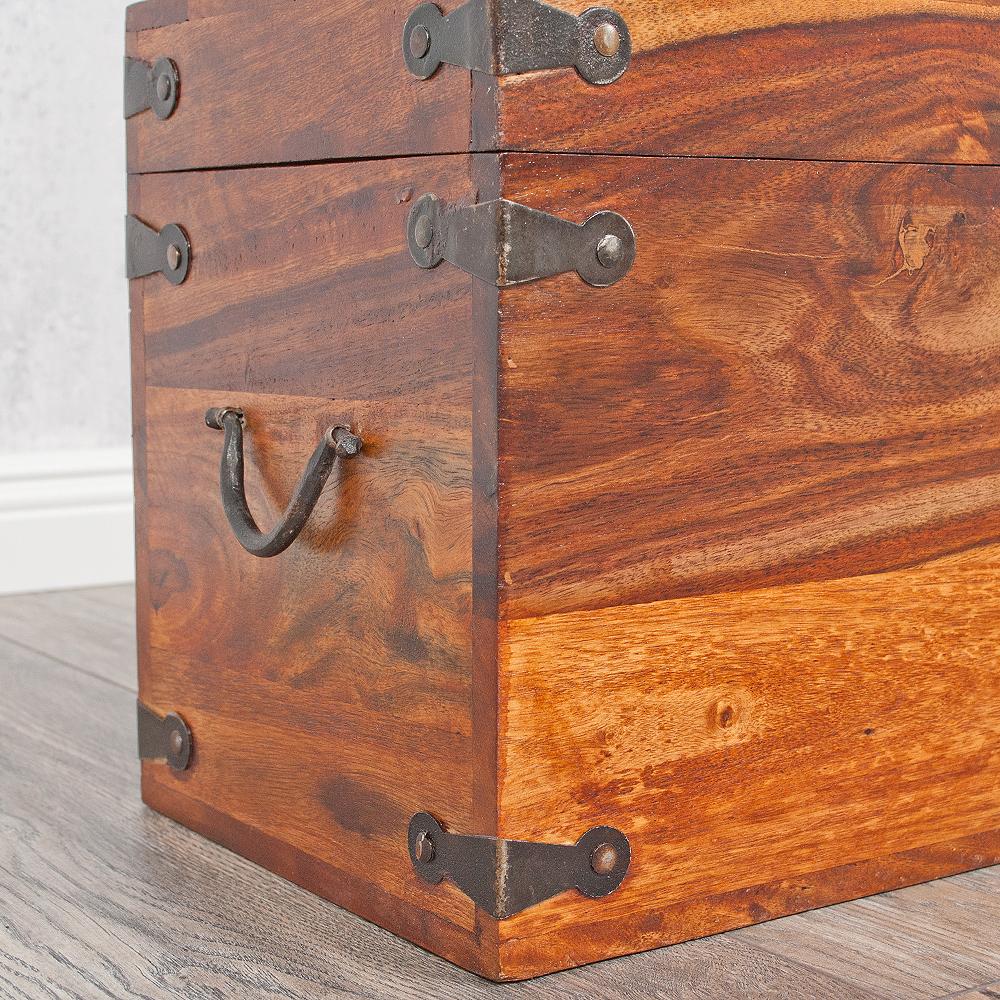 massivholz truhe tarun natural n 42cm akazie 4473. Black Bedroom Furniture Sets. Home Design Ideas