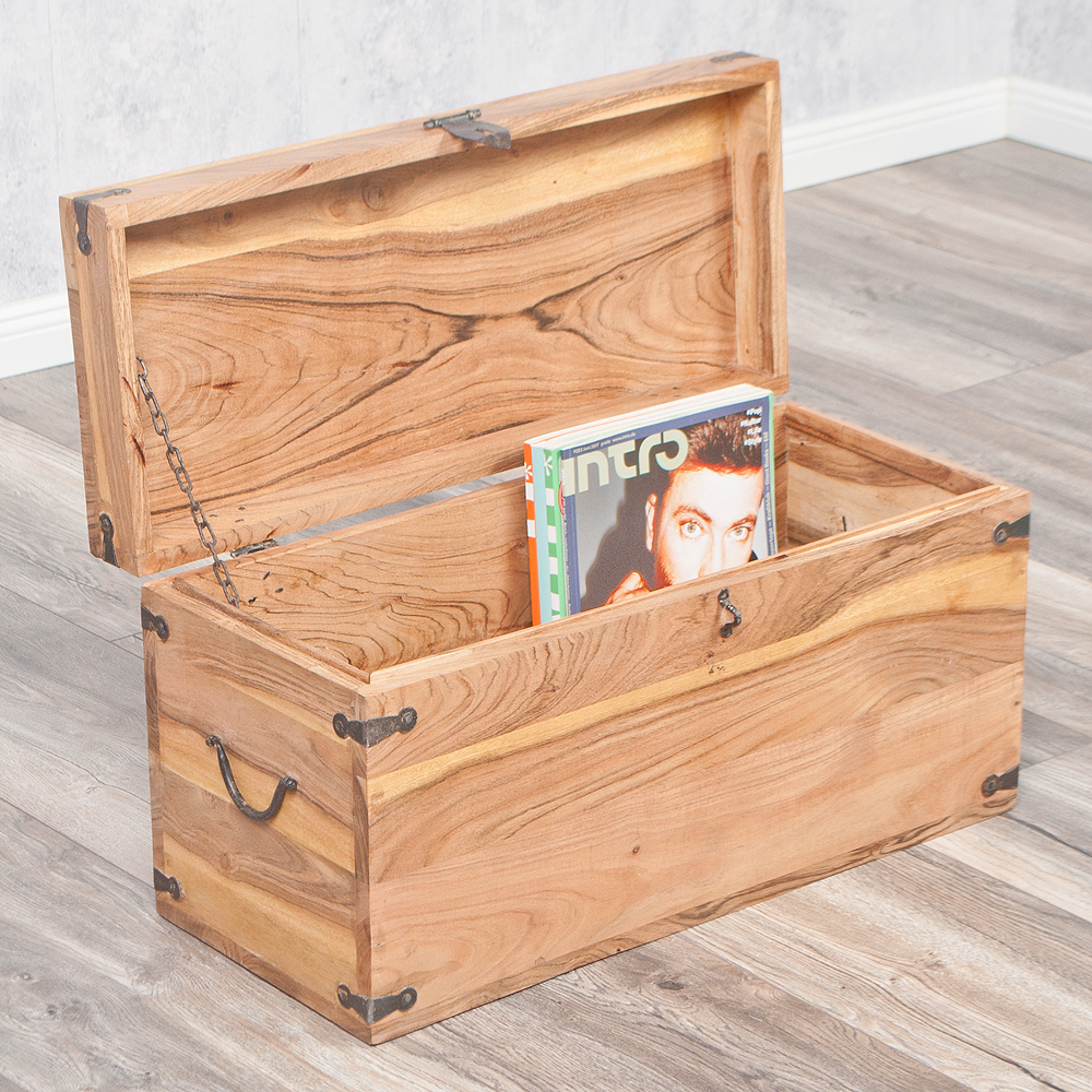 massivholz truhe tarun 60cm stone akazie holztruhe. Black Bedroom Furniture Sets. Home Design Ideas