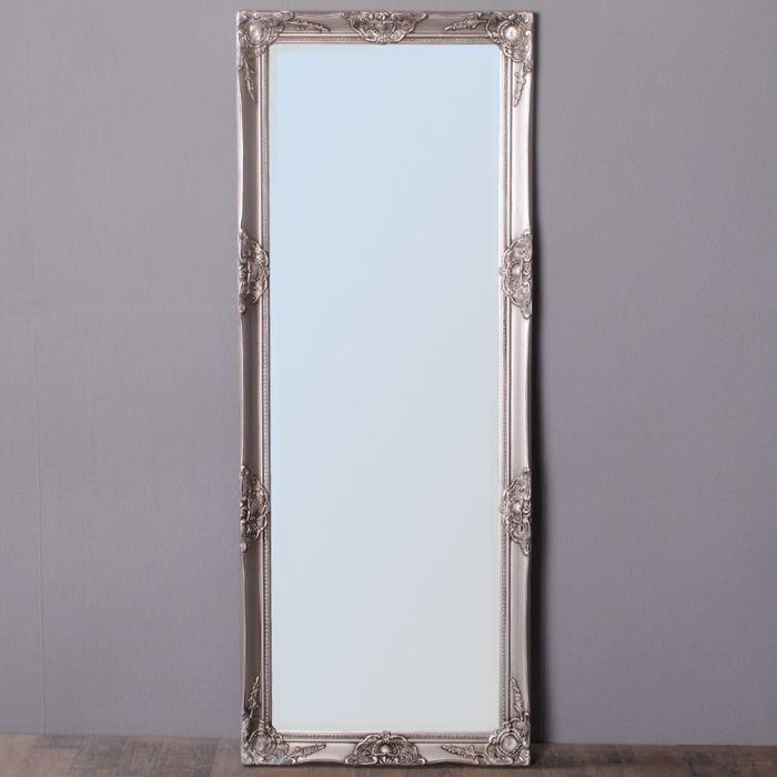 spiegel leandra barock antik silber 170x55cm 4489. Black Bedroom Furniture Sets. Home Design Ideas