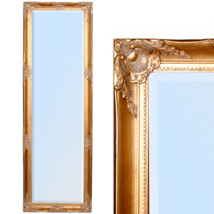 spiegel leandra barock antik gold 170x55cm 4541. Black Bedroom Furniture Sets. Home Design Ideas