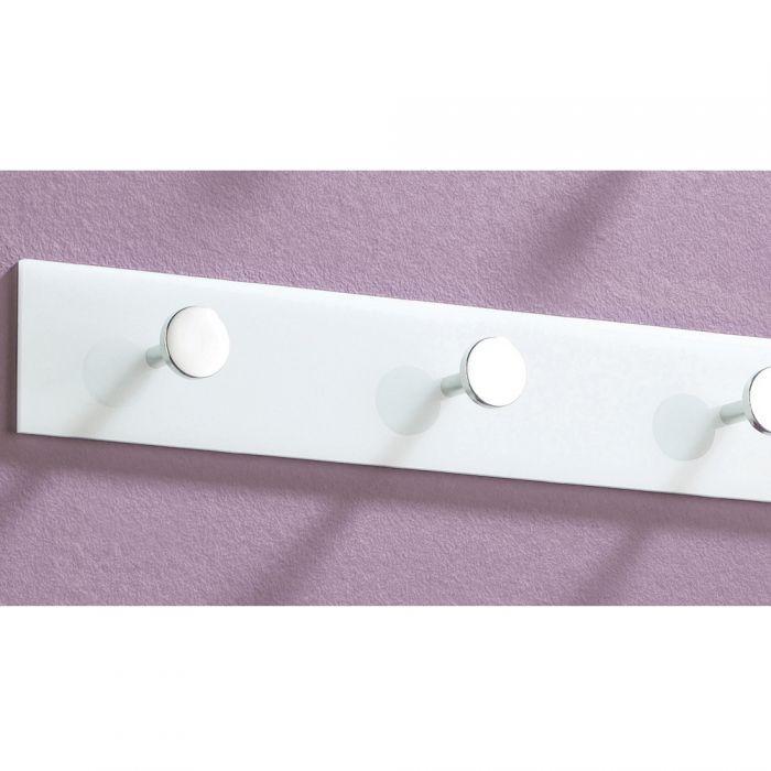 Garderobe acryl garderobenleiste wei chrom 34cm 4559 for Garderobe chrom