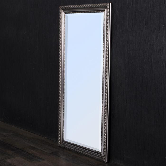 spiegel stripe 100x50cm silber antik barock 4787. Black Bedroom Furniture Sets. Home Design Ideas