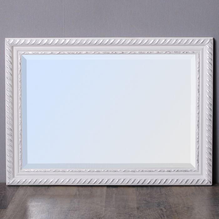 spiegel stripe 70x50cm wei silber barock 4796. Black Bedroom Furniture Sets. Home Design Ideas