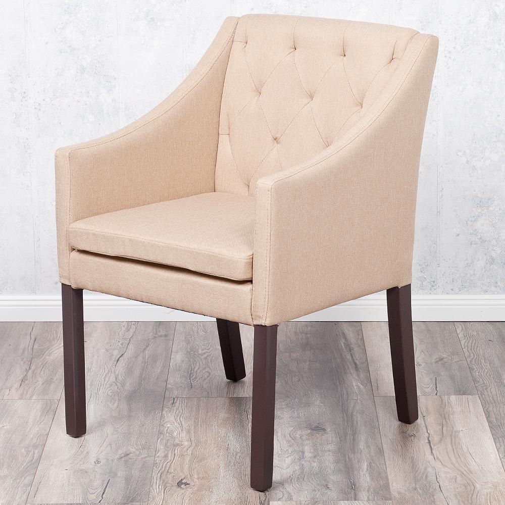 armlehnstuhl grace light brown stoffbezug 4929. Black Bedroom Furniture Sets. Home Design Ideas