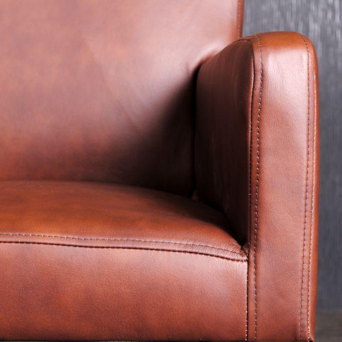 armlehnstuhl lederstuhl esszimmerstuhl leder vintage sessel hatty light brown ebay. Black Bedroom Furniture Sets. Home Design Ideas