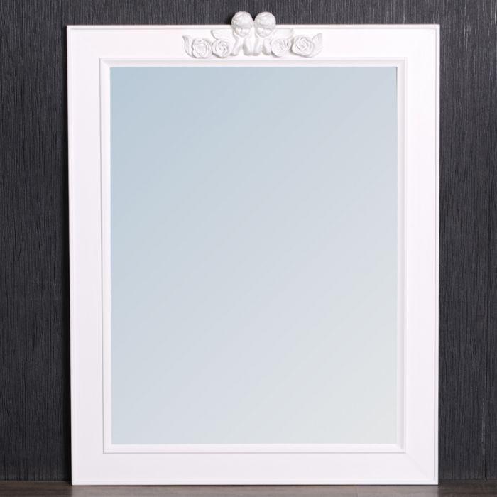 wei er spiegel angelo 78x60cm engel ornament 5001. Black Bedroom Furniture Sets. Home Design Ideas