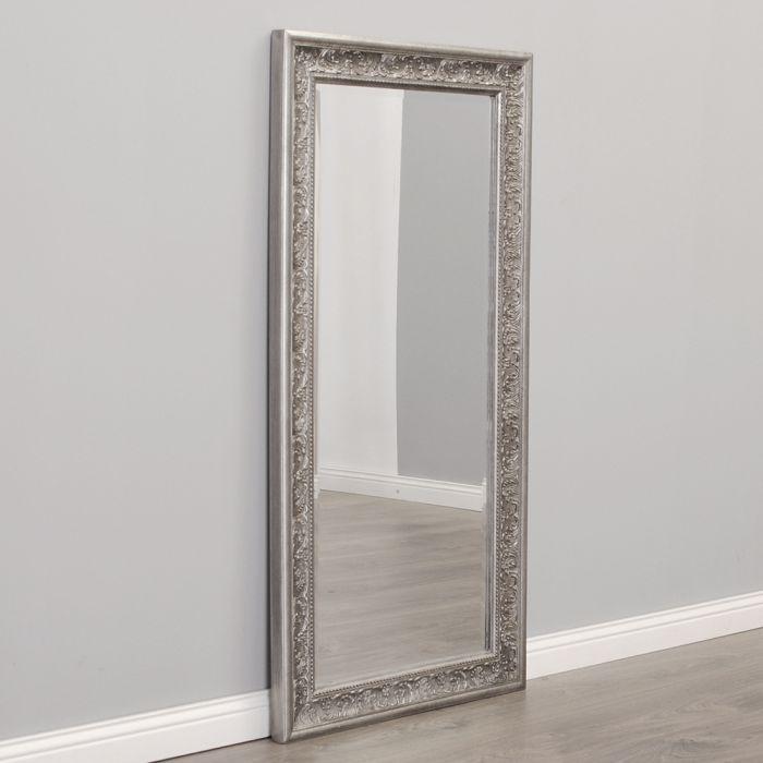 spiegel fiora barock antik silber 100x50cm 5192. Black Bedroom Furniture Sets. Home Design Ideas