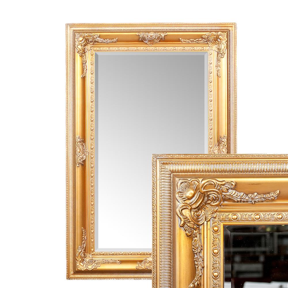 Wandspiegel eve 200x110cm spiegel gold antik pomp s barock holzrahmen facette ebay - Spiegel x ...