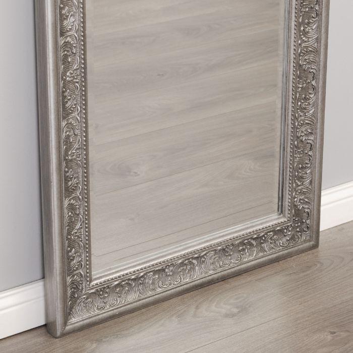 spiegel fiora barock antik silber 150x60cm 5228. Black Bedroom Furniture Sets. Home Design Ideas