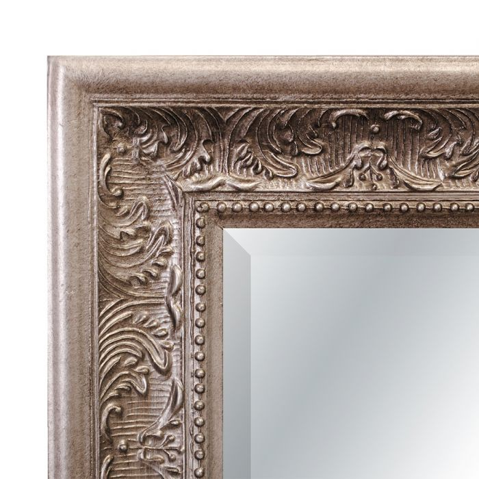 spiegel fiora barock antik silber 90x70cm 5233. Black Bedroom Furniture Sets. Home Design Ideas